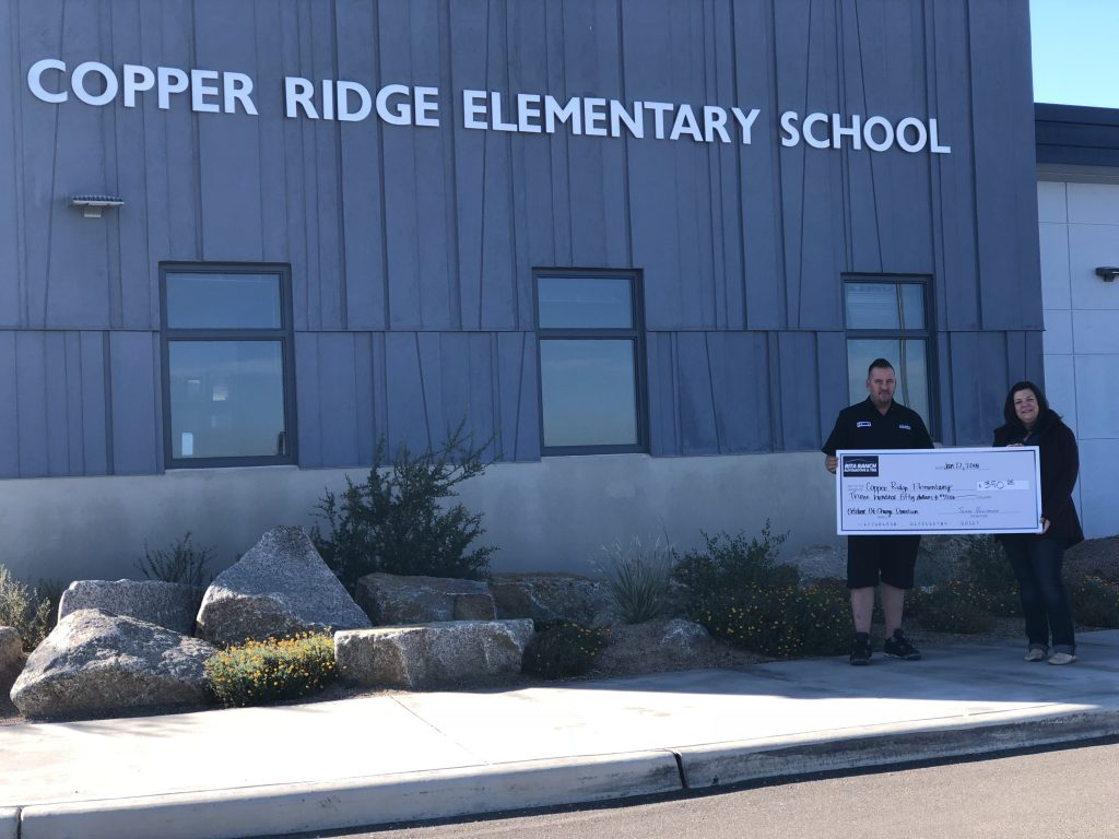 copper ridge elementary school donation